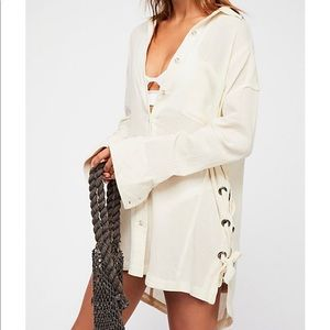 Free People Nordic Day Solid Top Size Medium